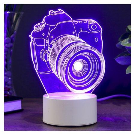 "Светильник ""Фотоаппарат"" LED RGB от сети 10х13,5х20,4см  КНР"