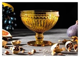 Креманка круглая «Босфор», 350 мл, 12×11 см, цвет жёлтый  NNB