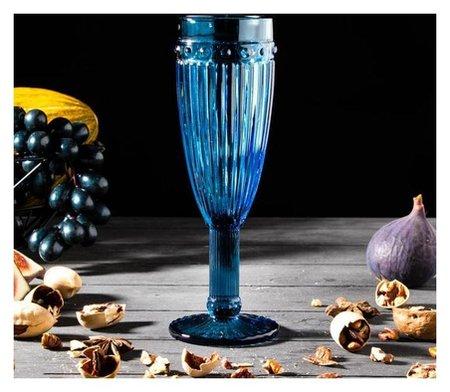 Бокал для шампанского «Босфор», 160 мл, 7×7×20 см, цвет синий  NNB