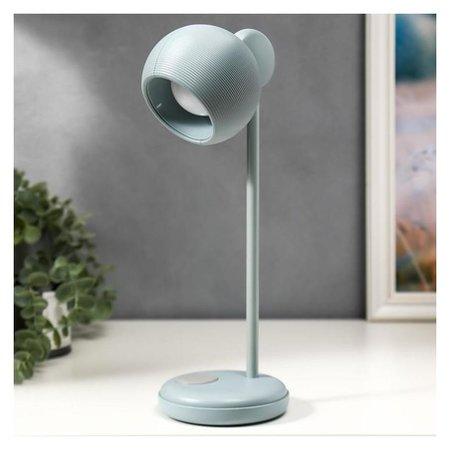 Лампа настольная 16044/1gy LED 4Вт 3 режима АКБ USB серый 10,5х10,5х31 см КНР