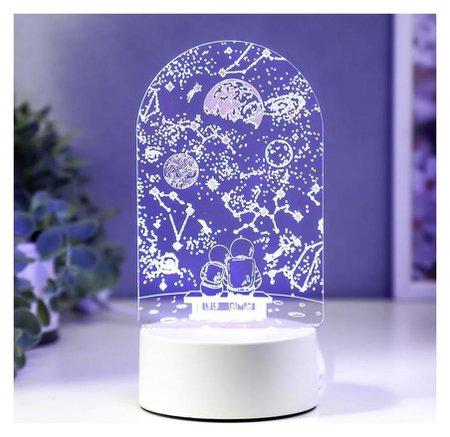 "Светильник ""Пара в космосе"" LED RGB от сети 13х21,5 см  КНР"