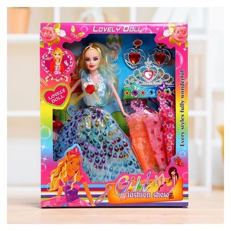 Кукла модель «Тоня» с набором платьев, с аксессуарами  NNB