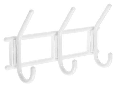 Вешалка Tundra, 3-х крючковая снежно-белая,пластмасса, 1 шт.  Tundra