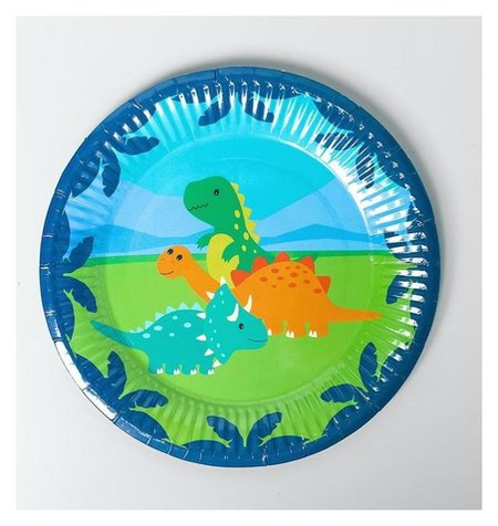 Тарелка бумажная «Динозаврики», набор 6 шт.  Страна Карнавалия