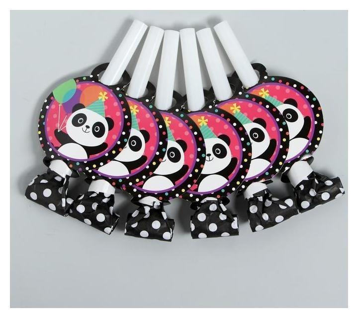 Карнавальный язычок Панда набор 6 штук NNB
