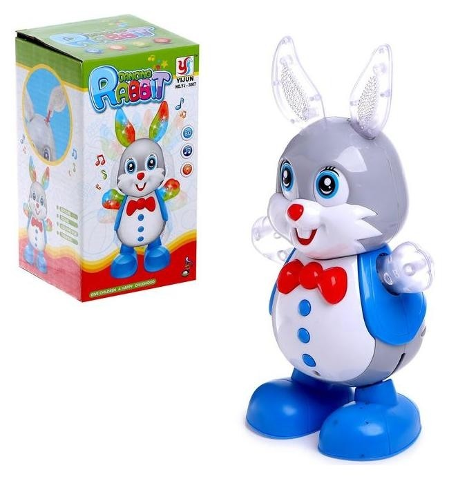 Игрушка «Кролик», работает от батареек, танцует, световые и звуковые эффекты  Yijun Toys