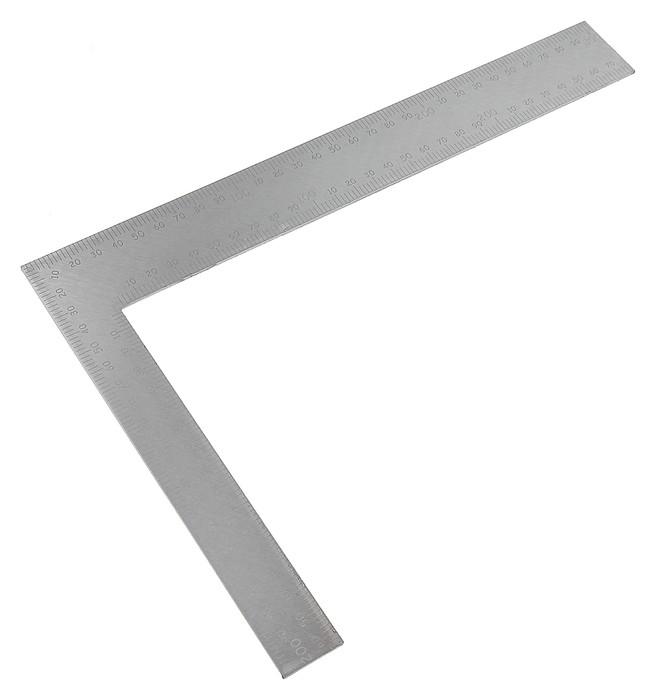 Угольник столярный Fit, цельнометаллический, рифленая шкала, 200 х 300 мм  FIT