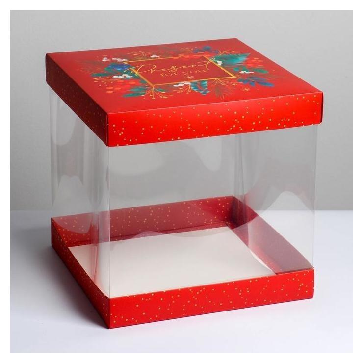 Складная коробка под торт Present For You, 30 × 30 см  Дарите счастье