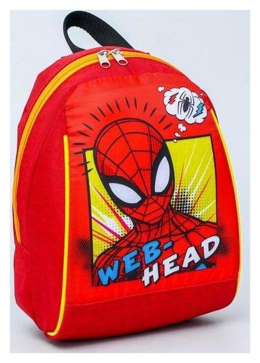 """Рюкзак """"Человек паук"""", 20*13*26, отд на молнии, красный  Marvel"""