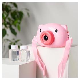 """Генератор мыльных пузырей """"Свинка"""" на батар. автоном 13,5х7х9 см"""