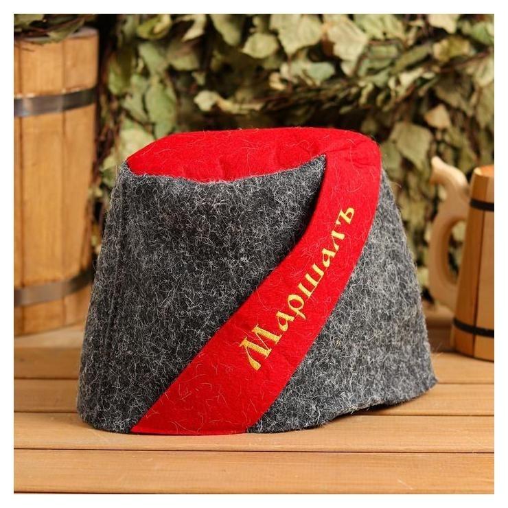 Банная шапка Папаха. маршал, войлок NNB