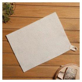 Коврик для бани и сауны, войлок белый, 30×40 см  NNB