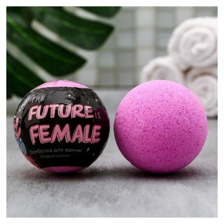 Бурлящий шар в термоэтикетке с ягодным ароматом The Future Is Female  Beauty fox
