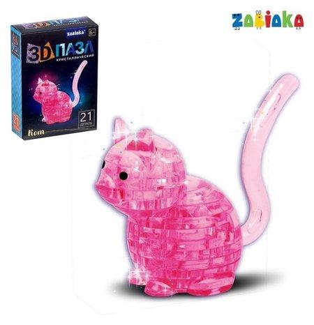 Пазл 3D кристаллический, «Кот», 21 деталь  Zabiaka