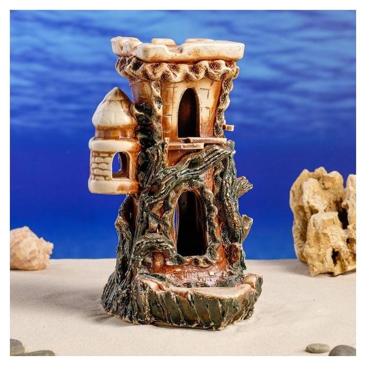 Декорации для аквариума Крепость большая Керамика ручной работы