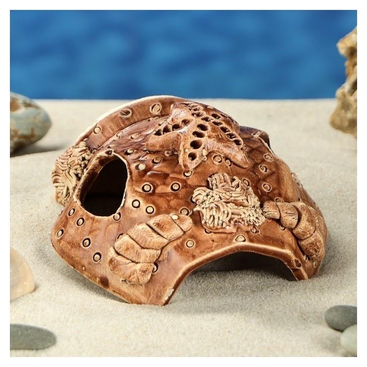 """Декорация для аквариума """"губка, 7 см  Керамика ручной работы"""