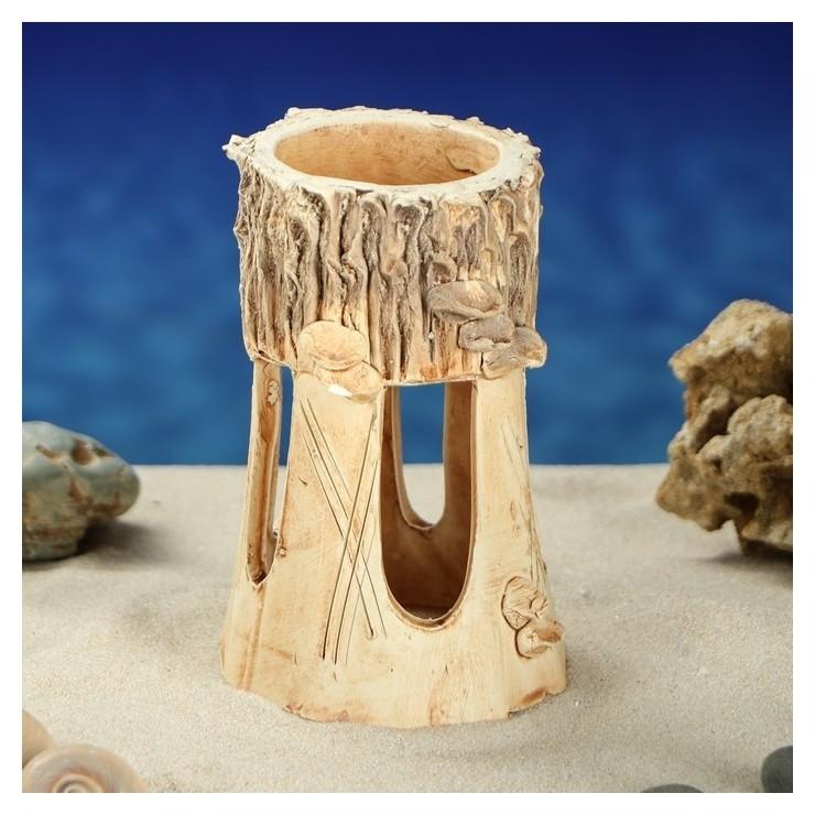 """Декорации для аквариума """"Башня"""" малая  Керамика ручной работы"""