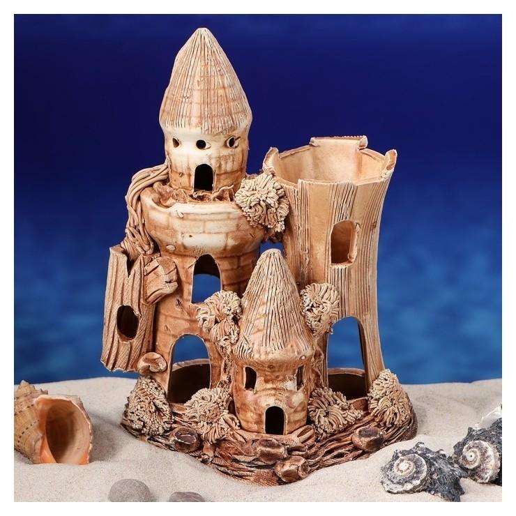 """Декорации для аквариума """"Замок"""" малый  Керамика ручной работы"""