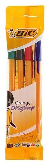 Набор ручек шариковых 4 цвета, BIC Orange Original, 0.8 мм  BIC