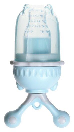 Изделие для прикорма с силиконовой сеточкой, вращающийся поршень, цвет голубой  Mum&baby