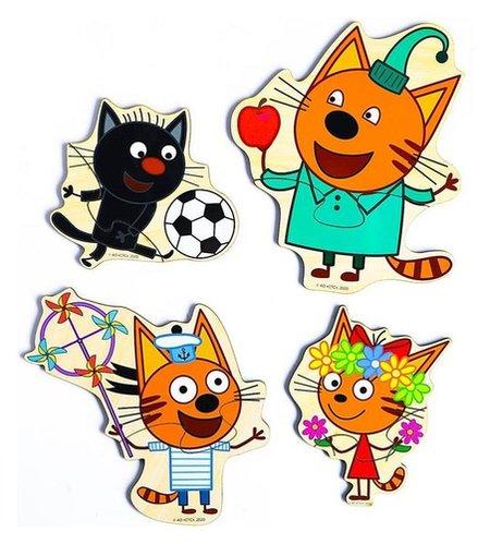 Набор пазлов «Три кота» 16.5×15×0.3 см, по лицензии ТРИ кота  Alatoys