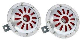 Сигнал автомобильный AVS Electric 1046, 12 В, 335/435 Гц, 115 Дб, D=125 мм, набор 2 шт.  AVS