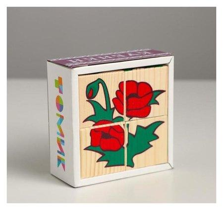 Кубики «Цветочки» 4 элемента  Томик
