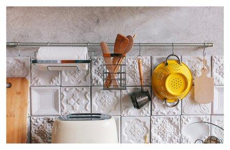Рейлинговая система для кухни: базовый набор 10 предметов  Доляна
