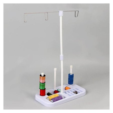 Органайзер-стойка для ниток, на подставке, 20,7 × 10,8 × 36,5 см, цвет голубой/белый NNB