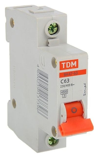 Выключатель автоматический TDM ва47-63, 1п, 63 А, 4.5 кА  TDM Еlectric