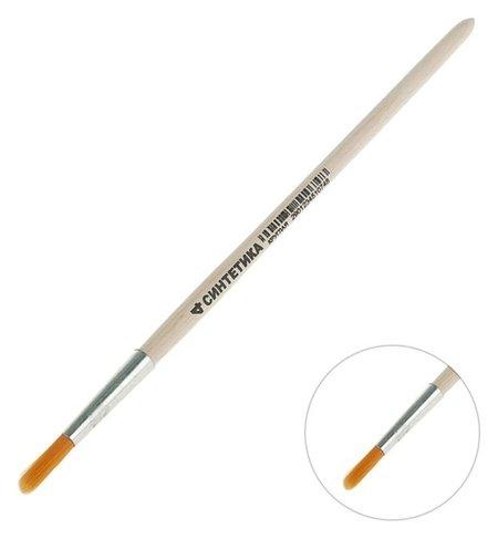 Кисть синтетика круглая № 4 (Диаметр обоймы 4 мм; длина волоса 18 мм) ручка дерево, Calligrata  Calligrata