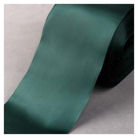 Лента атласная, 100 мм × 100 ± 1 м, цвет тёмно-зелёный  NNB