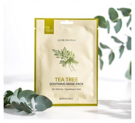 Маска для лица с экстрактом чайного дерева  BonnyHill