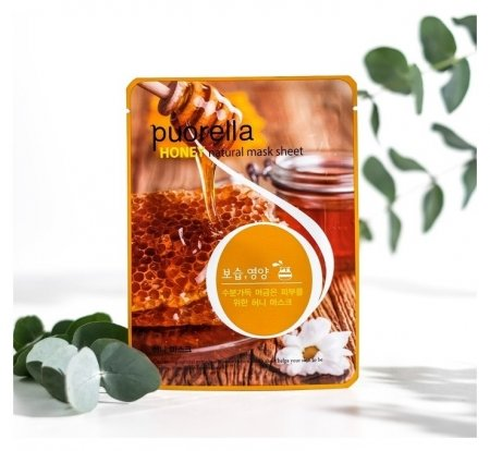 Маска для лица тканевая с медом  Puorella