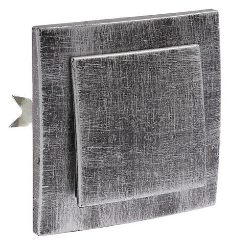 """Выключатель """"Элект"""" VS 16-131-чс, 6 А, 1 клавиша, скрытый, цвет черный под серебро  Элект"""
