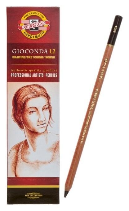 Сепия в карандаше 4.2 мм набор 12 штук, Koh-i-noor Gioconda 8804, темно-коричневая  Koh-i-noor