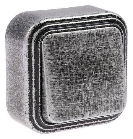"""Выключатель """"Элект"""" VA 16-131-чс, 6 А, 1 клавиша, наружный, цвет черный под серебро  Элект"""
