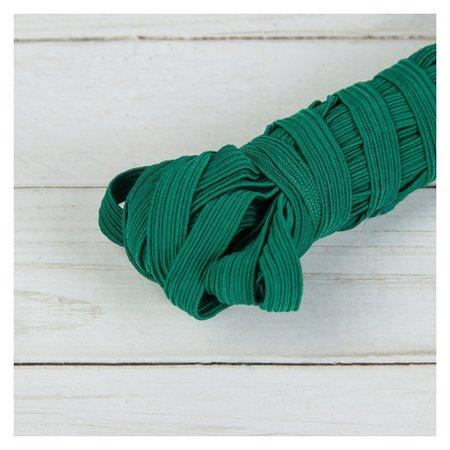 Резинка эластичная, 10 мм, 10 ± 1 м, цвет тёмно-зелёный №225  NNB