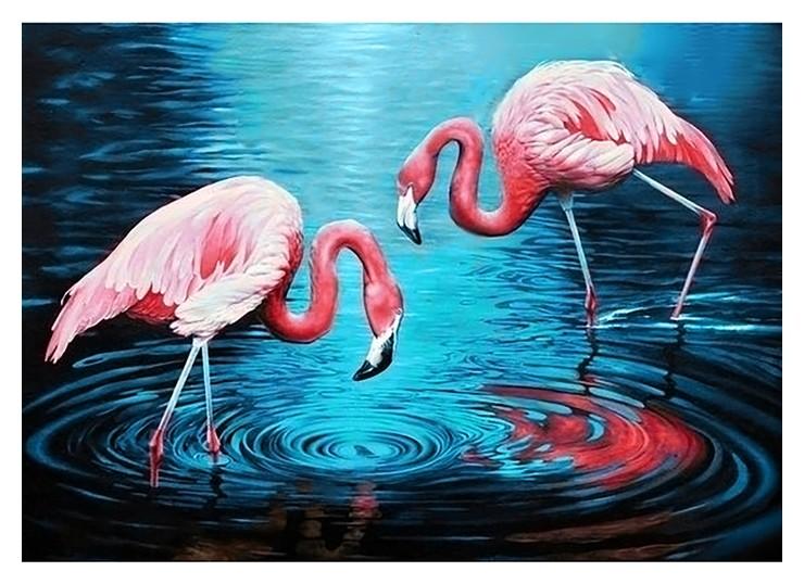 Картина стразами Фламинго на озере Гранни