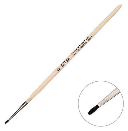 Кисть белка круглая №0 (D-1 мм ; L-5 мм), ручка дерево, Calligrata  Calligrata