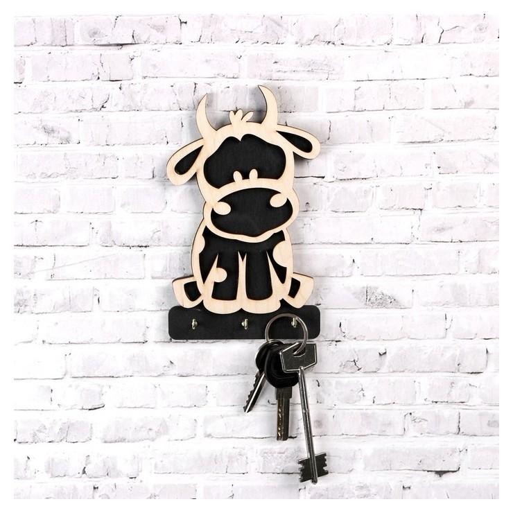 Ключница Символ года 2021 Бычок 3 крючка металлических 10×16.5 см NNB