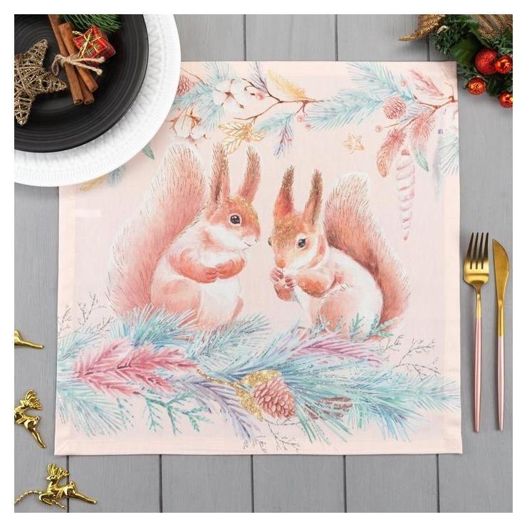 Набор салфеток Этель Pink Magic (Вид 3) 40х40см -2шт, 100% хл, саржа 190 гр/м2 Этель