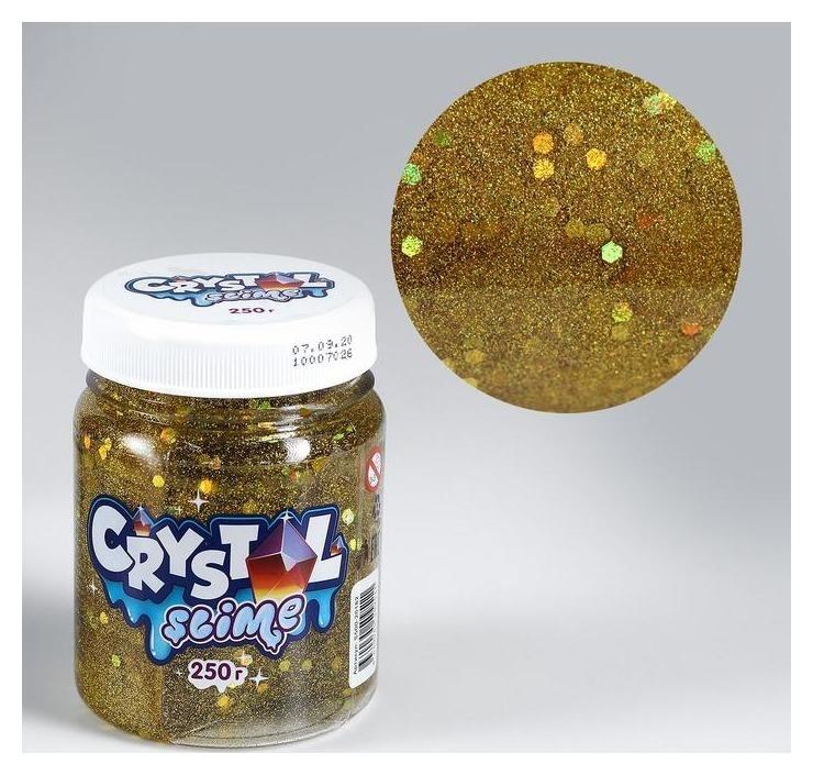 Игрушка ТМ «Slime» Crystal Slime, золотой, 250 г Космический песок