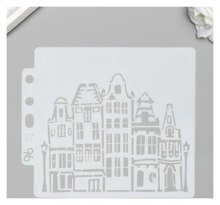 Трафарет пластик Архитектура 13х14 см NNB