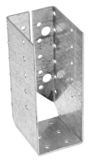 Опора бруса Tundra, оцинкованная, 140х76х50х2 мм, закрытая, 1 шт.  Tundra