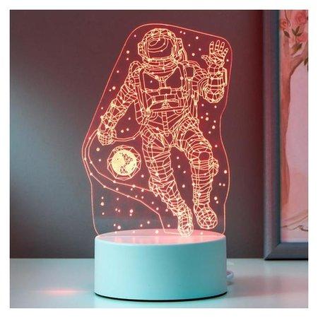 "Светильник ""Космонавт"" LED RGB от сети 20х13 см  КНР"