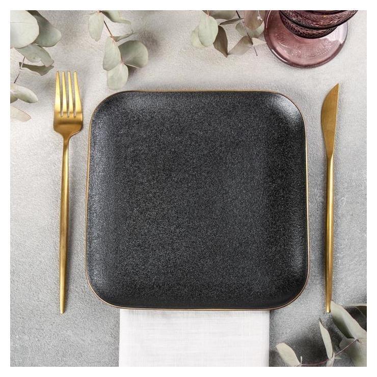 Блюдо квадратное «Золотая нить», 20×20 см NNB