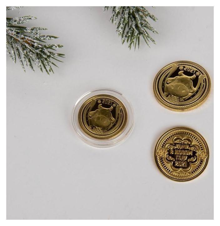 Монета На счастье, диам. 2,2 см Семейные традиции