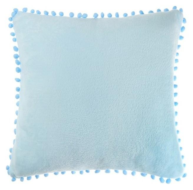 Наволочка Этель, р-р 40х40 см, голубой, 100% п/э Этель