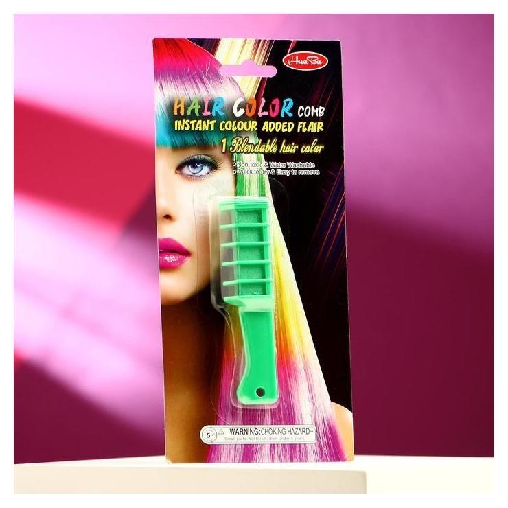 Мелок для волос с насадкой зеленый  NNB